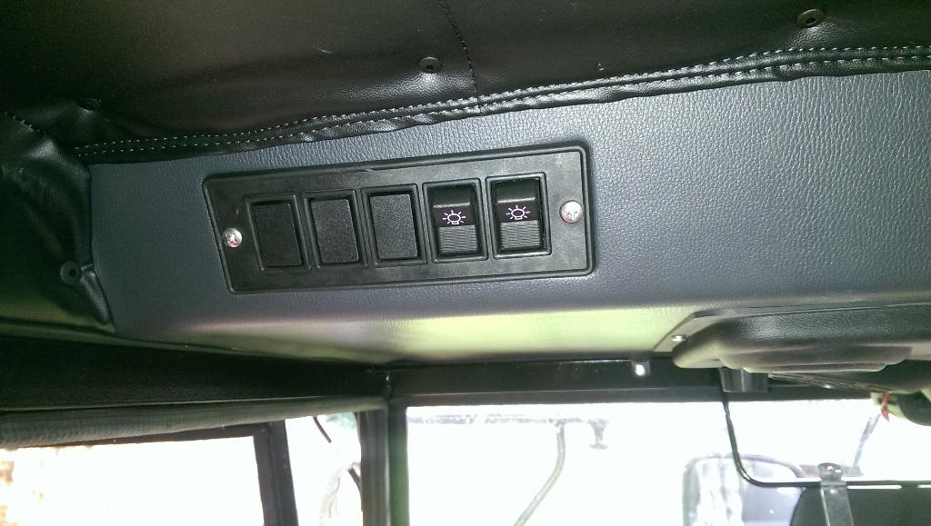 Schalterleiste für Arbeitsscheinwerfer, etc.